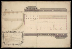 A Plan With Elevations Of the Buildings In His Majesty's Ordnance Yard, At Kingston In The Island Of Jamaica